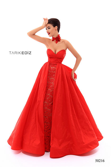 50216 (3) gown from the 2018 Tarik Ediz: Prom collection, as seen on Bride.Canada