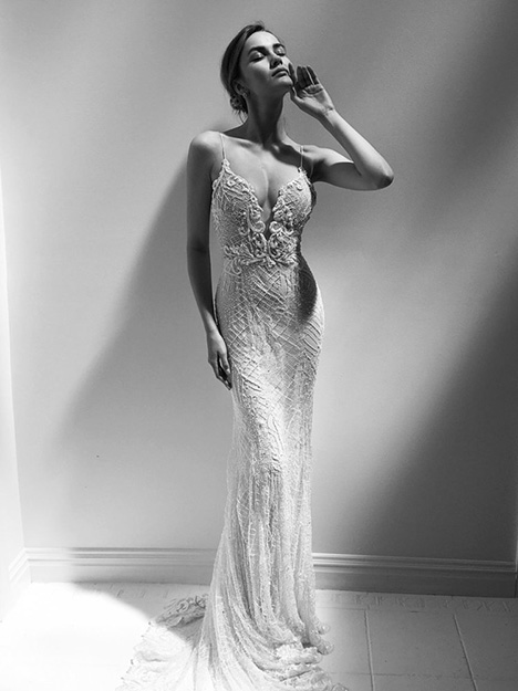 Brigitte gown from the 2018 Alon Livne : White collection, as seen on Bride.Canada