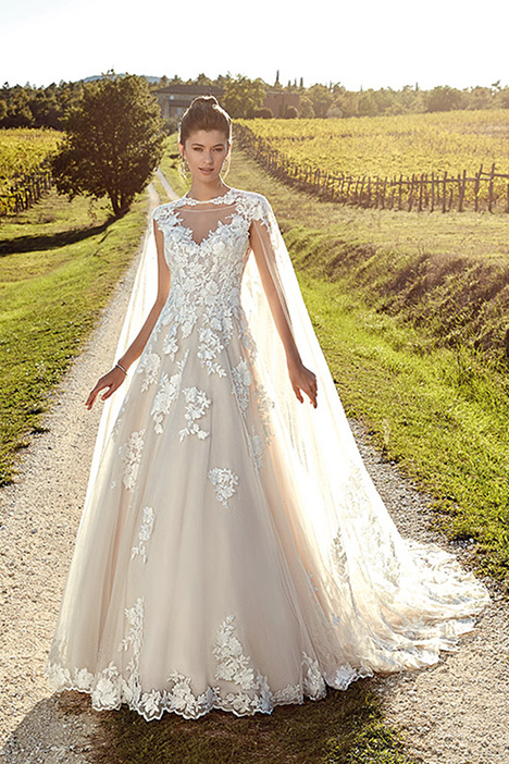 EK1229DT (+ cape) gown from the 2019 Eddy K collection, as seen on Bride.Canada