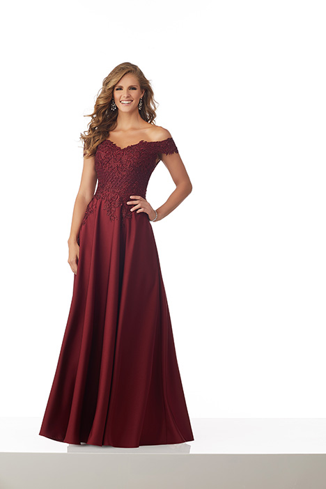 (Wine) gown from the 2018 MGNY Madeline Gardner collection, as seen on Bride.Canada