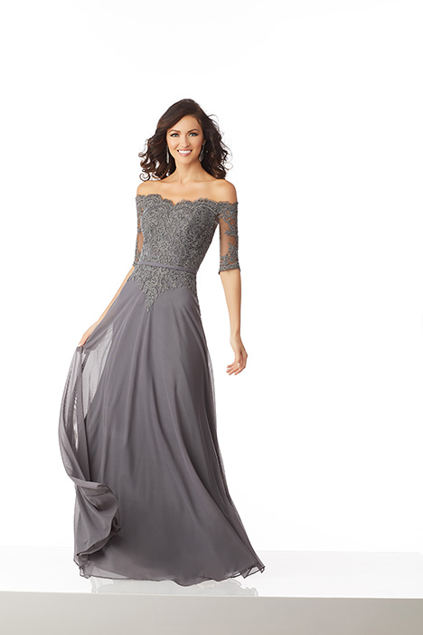 (Charcoal) gown from the 2018 MGNY Madeline Gardner collection, as seen on Bride.Canada