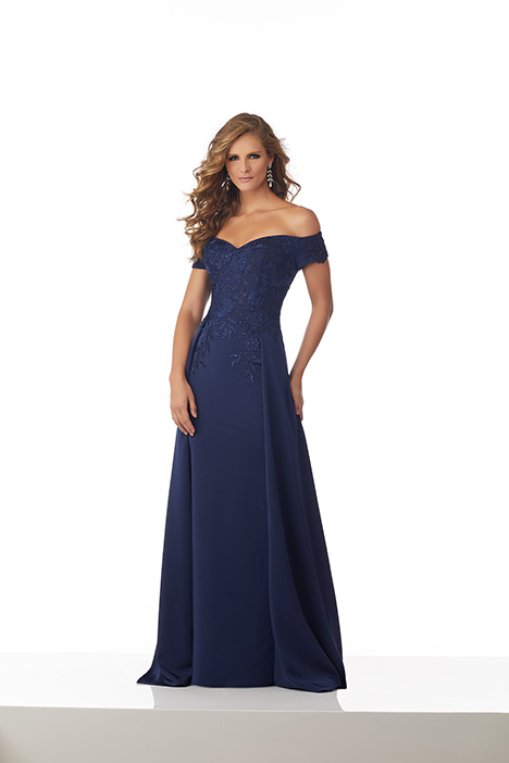 (Navy) gown from the 2018 MGNY Madeline Gardner collection, as seen on Bride.Canada