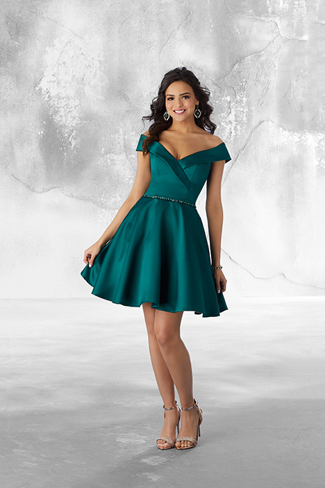 9488 (Emerald) gown from the 2018 Morilee Damas collection, as seen on Bride.Canada