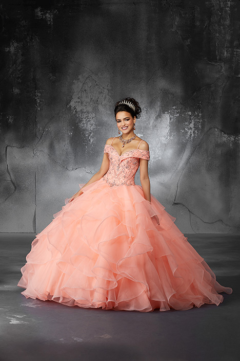 60059 (Coral) gown from the 2018 Morilee Valencia collection, as seen on Bride.Canada