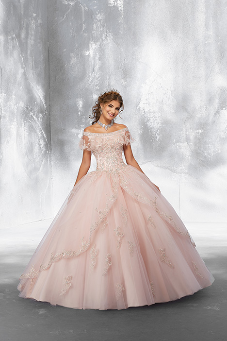 89181 (Blush) gown from the 2018 Morilee Vizcaya collection, as seen on Bride.Canada