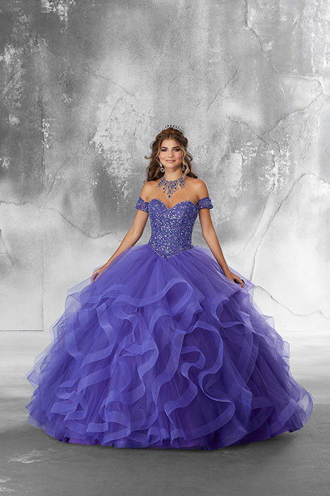 89185 (Blueberry) gown from the 2018 Morilee Vizcaya collection, as seen on Bride.Canada