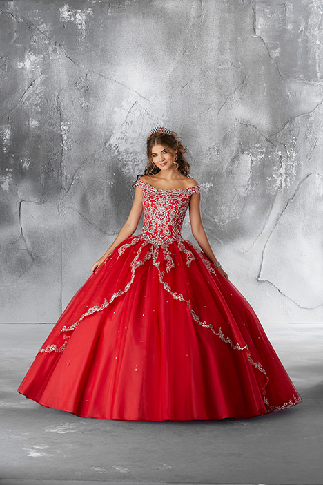 89191 (Scarlet) gown from the 2018 Morilee Vizcaya collection, as seen on Bride.Canada