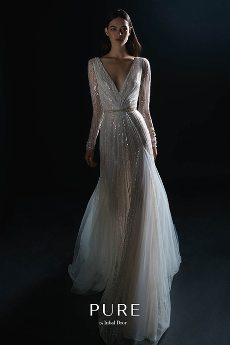 PURE-18-022 gown from the 2018 PURE by Inbal Dror collection, as seen on Bride.Canada