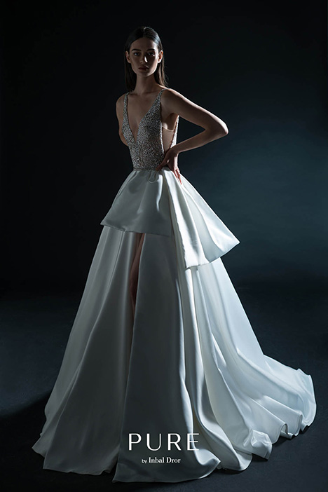 PURE-18-04 gown from the 2018 PURE by Inbal Dror collection, as seen on Bride.Canada