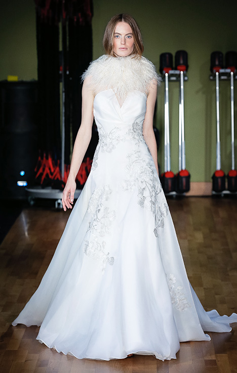 Nadia (91821) gown from the 2018 Alyne collection, as seen on Bride.Canada