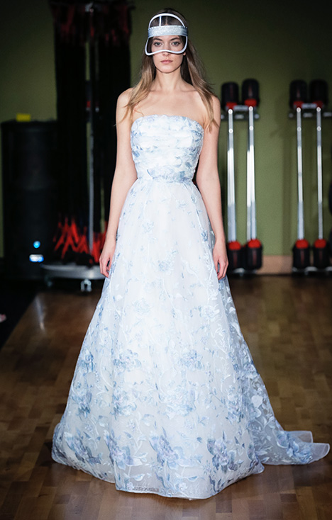 Simone (91823) gown from the 2018 Alyne collection, as seen on Bride.Canada