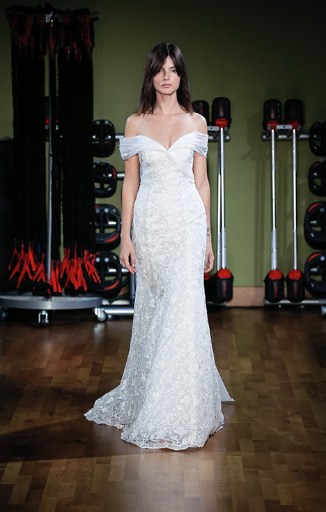 Martina (91824) gown from the 2018 Alyne collection, as seen on Bride.Canada