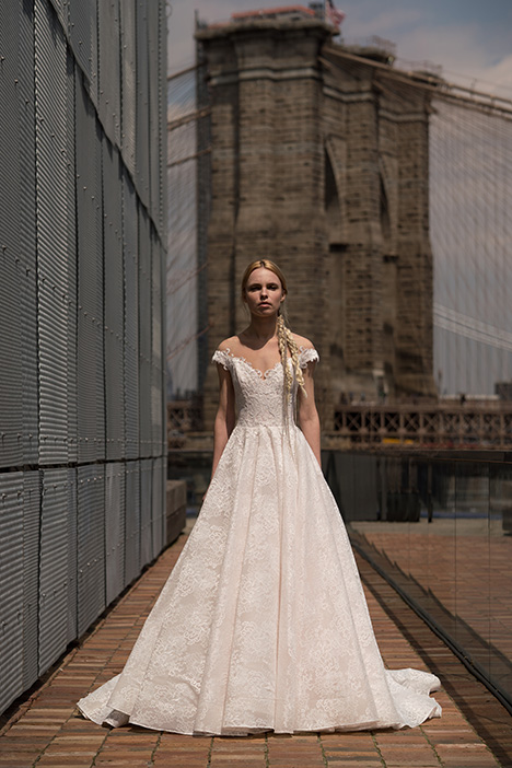West (91910) gown from the 2019 Alyne collection, as seen on Bride.Canada