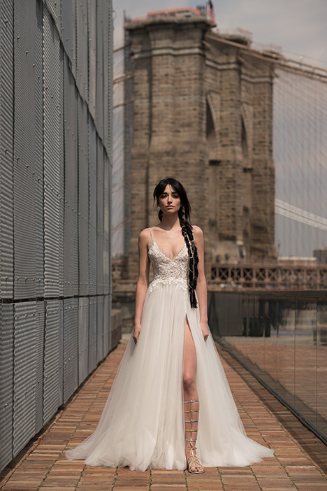 Golda (91912) gown from the 2019 Alyne collection, as seen on Bride.Canada