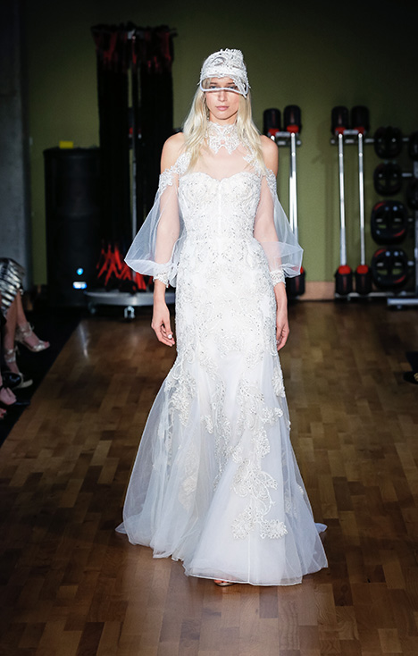 Aly (3902) gown from the 2018 Rivini collection, as seen on Bride.Canada