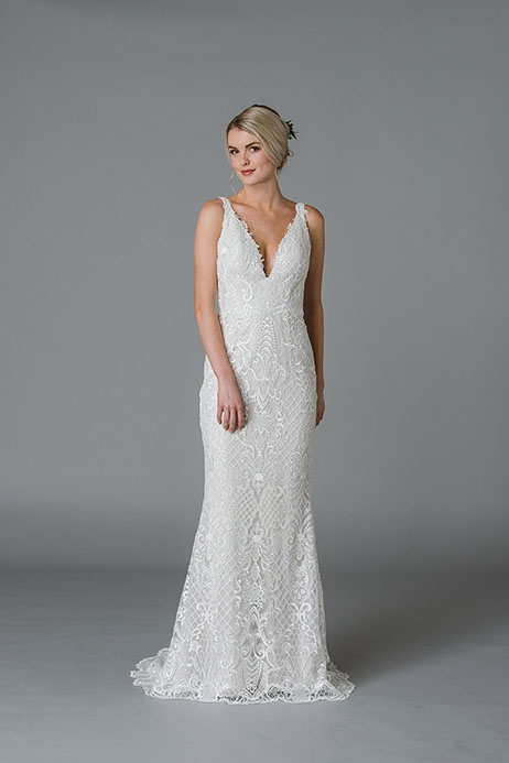 Jude gown from the 2018 Lis Simon collection, as seen on Bride.Canada