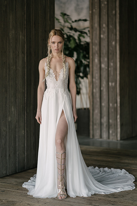 Bacall (4008) gown from the 2019 Rivini collection, as seen on Bride.Canada
