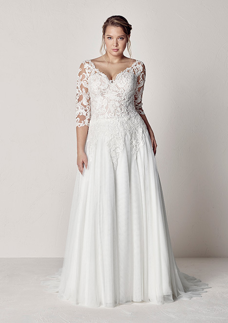 ETOLIA gown from the 2019 Pronovias Plus collection, as seen on Bride.Canada