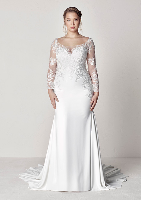 EULI gown from the 2019 Pronovias Plus collection, as seen on Bride.Canada