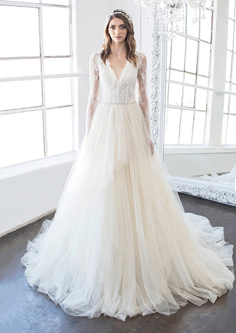 Seraphina (8483) gown from the 2018 Winnie Couture : Blush collection, as seen on Bride.Canada