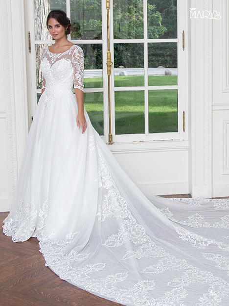 MB3020 gown from the 2018 Mary's Bridal collection, as seen on Bride.Canada