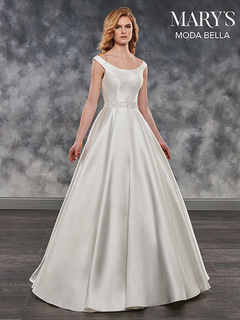 MB2037 gown from the 2018 Mary's Bridal: Moda Bella collection, as seen on Bride.Canada