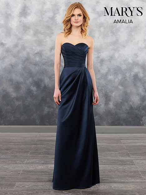 MB7028 gown from the 2018 Mary's Bridal: Amalia Bridesmaids collection, as seen on Bride.Canada
