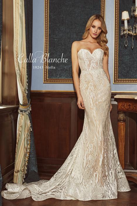 18243 gown from the 2018 Calla Blanche collection, as seen on Bride.Canada