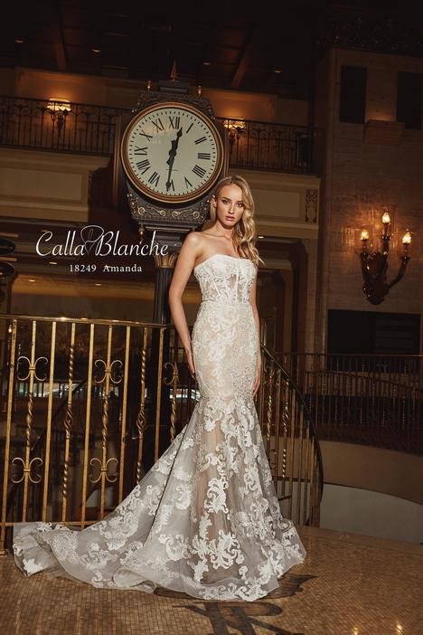 18249 gown from the 2018 Calla Blanche collection, as seen on Bride.Canada