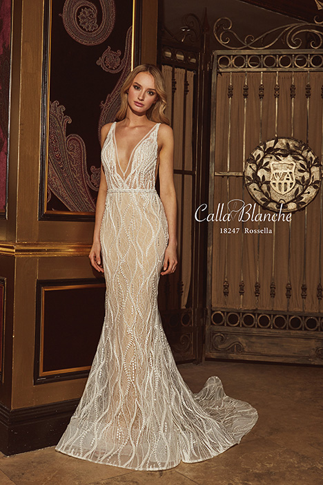 18247 gown from the 2018 Calla Blanche collection, as seen on Bride.Canada