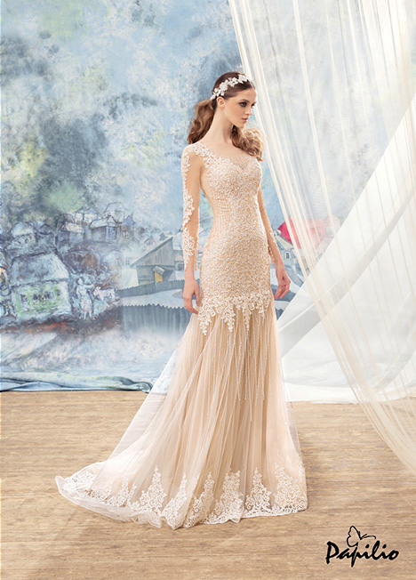 1704 gown from the 2017 Papilio Bridal collection, as seen on Bride.Canada