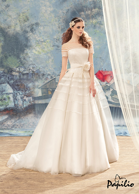 1722 gown from the 2017 Papilio Bridal collection, as seen on Bride.Canada