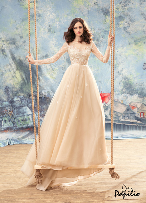 1742 gown from the 2017 Papilio Bridal collection, as seen on Bride.Canada