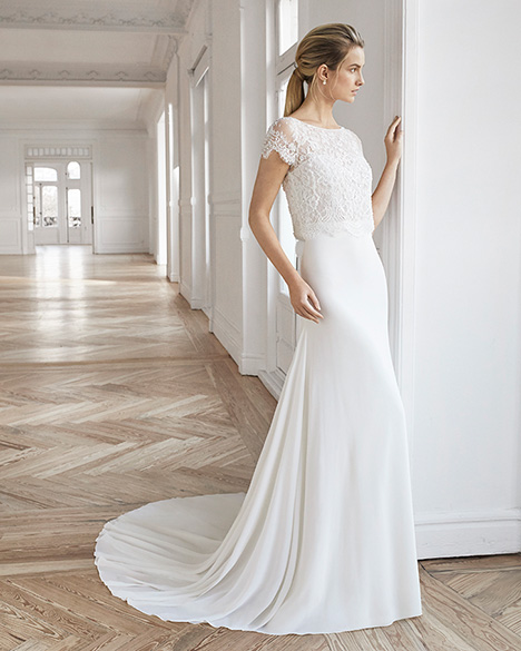 EDIMBURGO gown from the 2019 Aire Barcelona Bridal collection, as seen on Bride.Canada