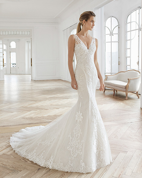 ELORA gown from the 2019 Aire Barcelona Bridal collection, as seen on Bride.Canada