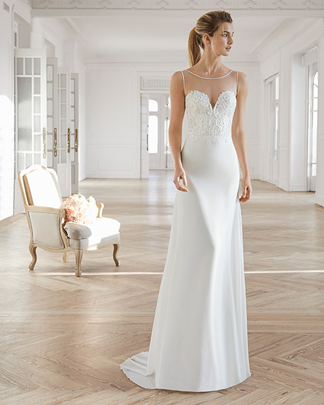 ERANDI (2) gown from the 2019 Aire Barcelona Bridal collection, as seen on Bride.Canada