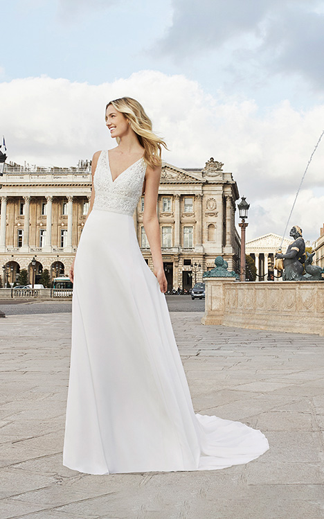 ELDER gown from the 2019 Aire Barcelona Bridal collection, as seen on Bride.Canada