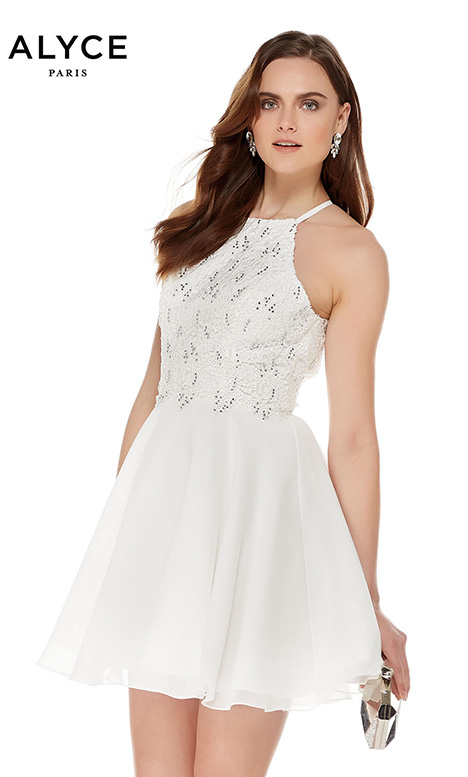 4050 gown from the 2018 Alyce Paris: Semi Formal collection, as seen on Bride.Canada