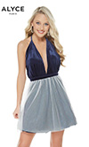 Alyce Paris: Semi Formal 126 (Navy/White)