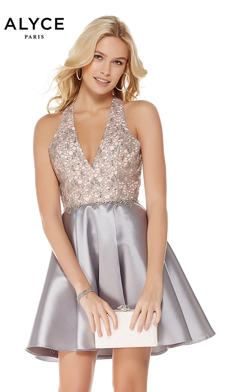 3797 gown from the 2018 Alyce Paris: Semi Formal collection, as seen on Bride.Canada