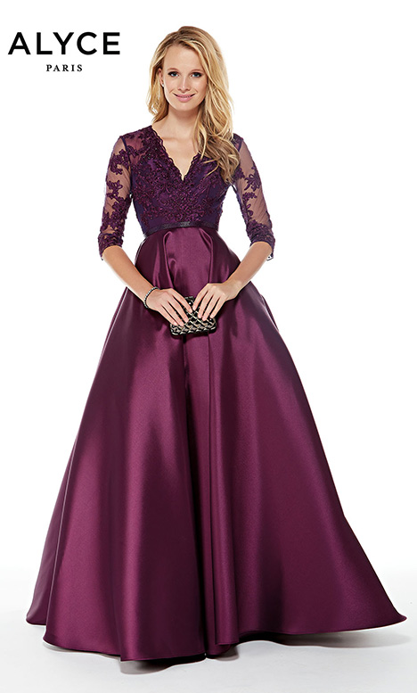 27023 (Aubergine) gown from the 2018 Alyce Paris: JDL Collection collection, as seen on Bride.Canada