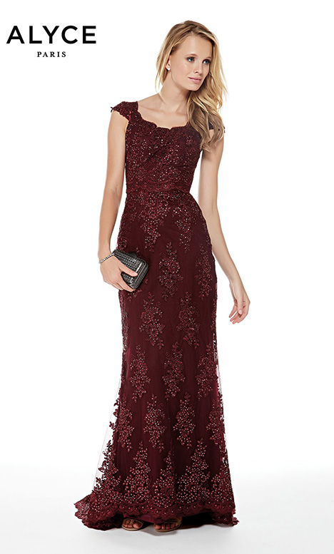 27042 (Black Cherry) gown from the 2018 Alyce Paris: JDL Collection collection, as seen on Bride.Canada