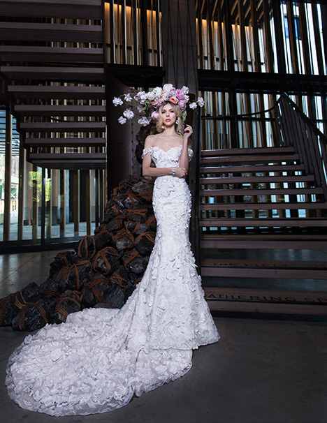 GAUTIER gown from the 2019 Yumi Katsura collection, as seen on Bride.Canada