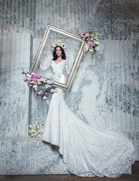 HOLLIS gown from the 2019 Yumi Katsura collection, as seen on Bride.Canada