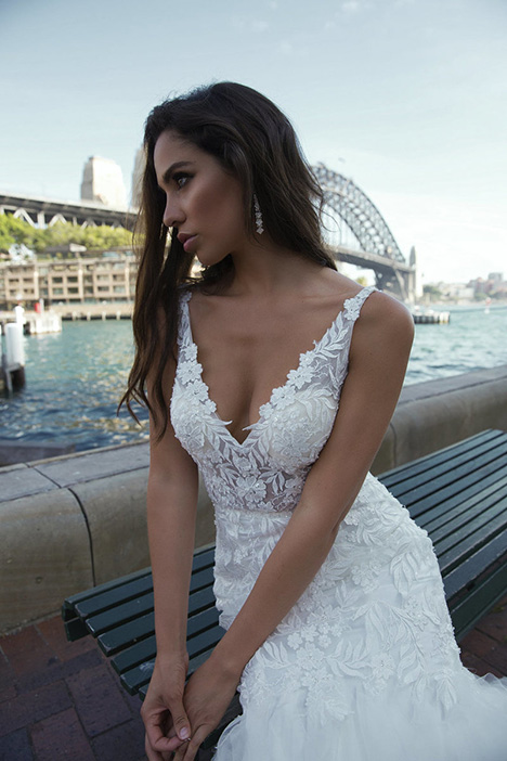 M1844Z Pascale gown from the 2018 Mia Solano collection, as seen on Bride.Canada