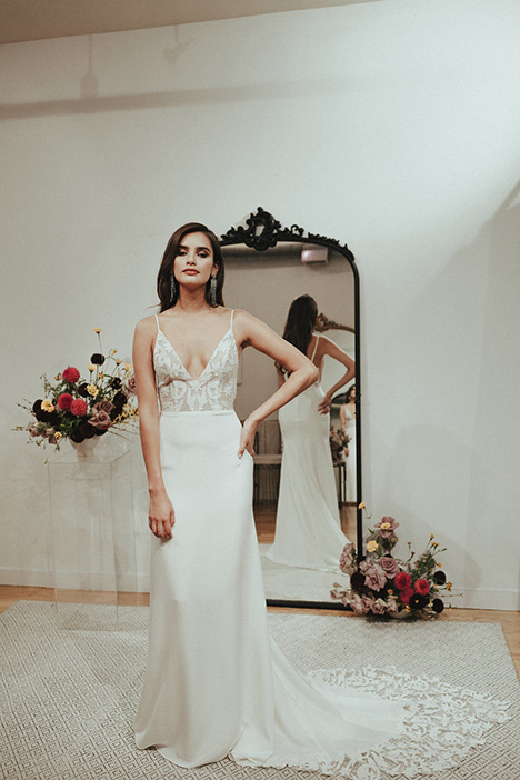 Eloise gown from the 2018 Sarah Seven collection, as seen on Bride.Canada