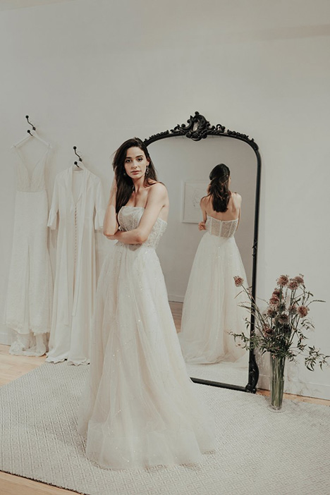 Reign gown from the 2018 Brides by Sarah Seven collection, as seen on Bride.Canada