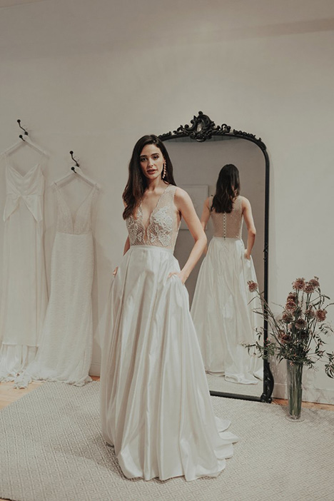 Duchess gown from the 2018 Brides by Sarah Seven collection, as seen on Bride.Canada
