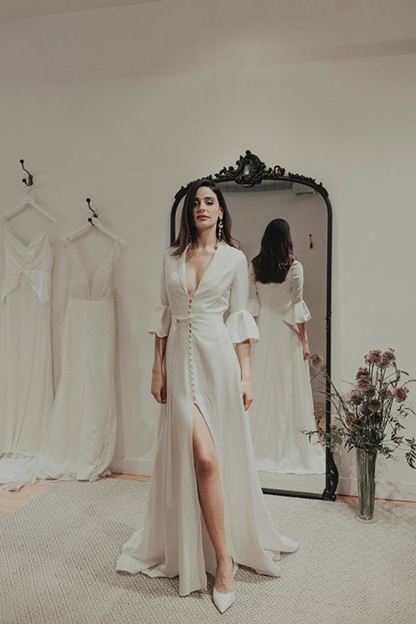 Aces gown from the 2018 Brides by Sarah Seven collection, as seen on Bride.Canada