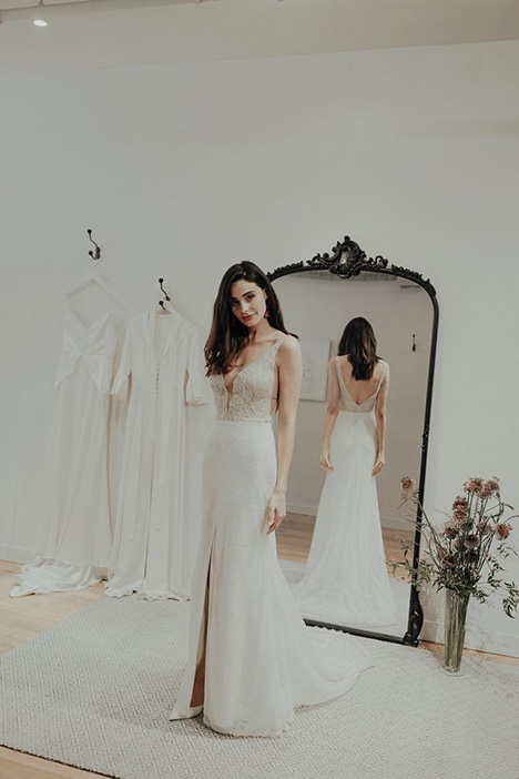 Crown gown from the 2018 Brides by Sarah Seven collection, as seen on Bride.Canada